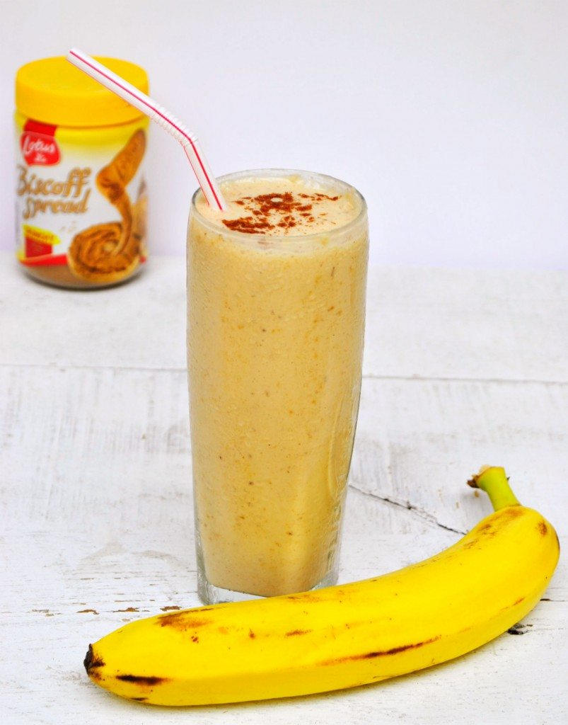 Banana Biscoff Breakfast Smoothie