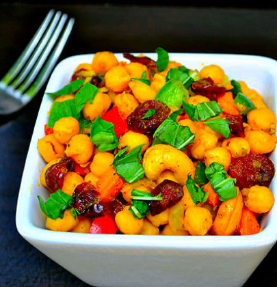 Coconut Curry Chickpea Salad