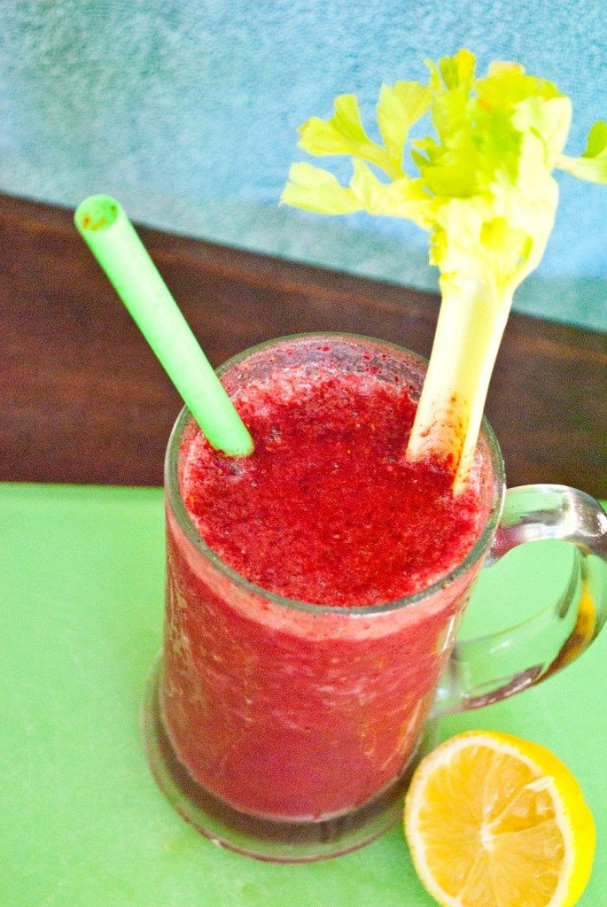 Apple Berry Detox Smoothie Top View