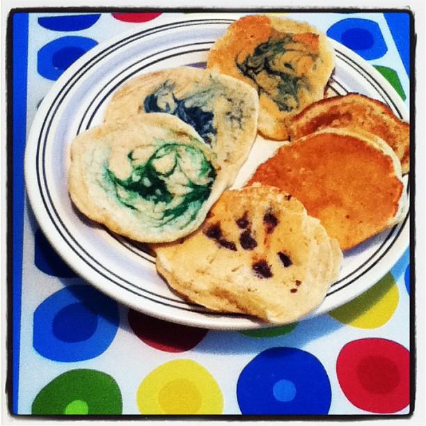 tie dye pancakes