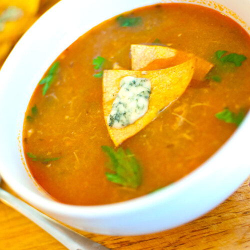 Hot & Spicy Buffalo Chicken Tortilla Soup