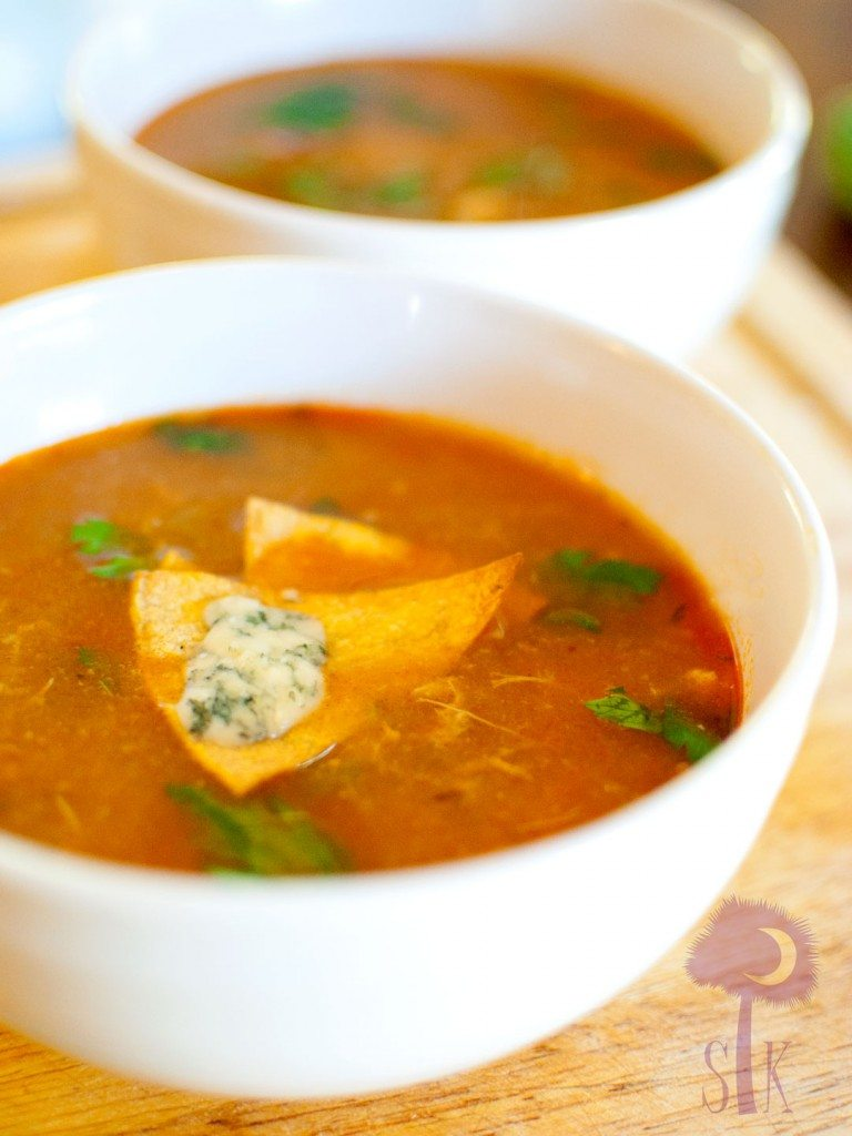 Hot and Spicy Buffalo Chicken Tortilla Soup