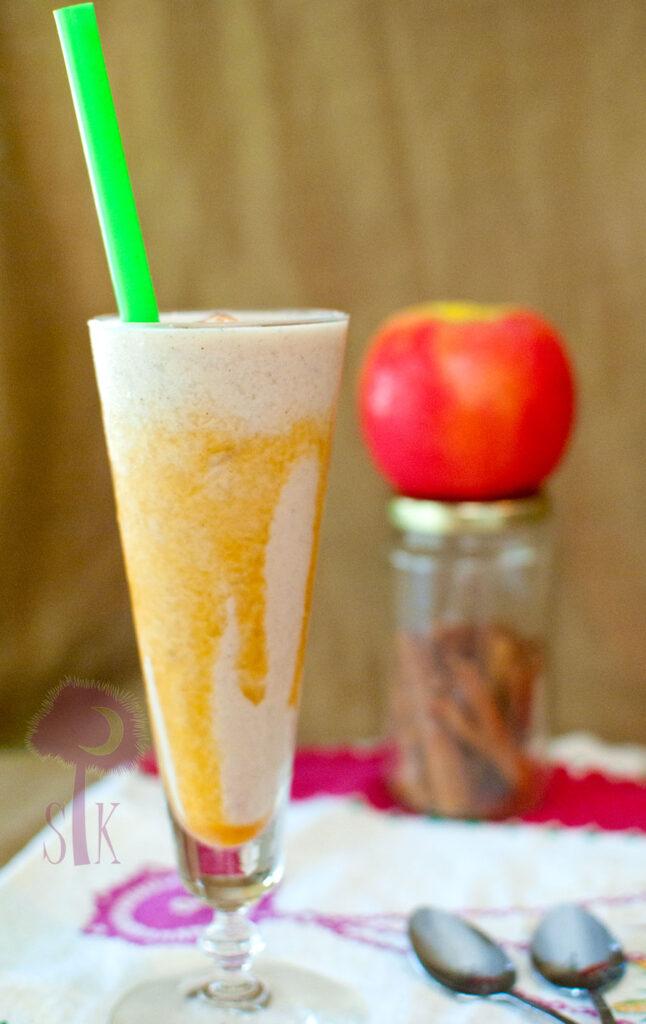 Cinnamon Caramel Apple Milkshakes