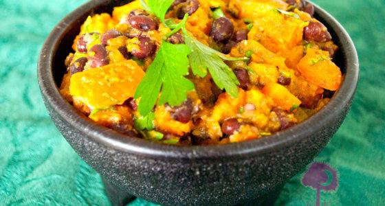 Roasted Butternut Squash & Black Bean Salsa