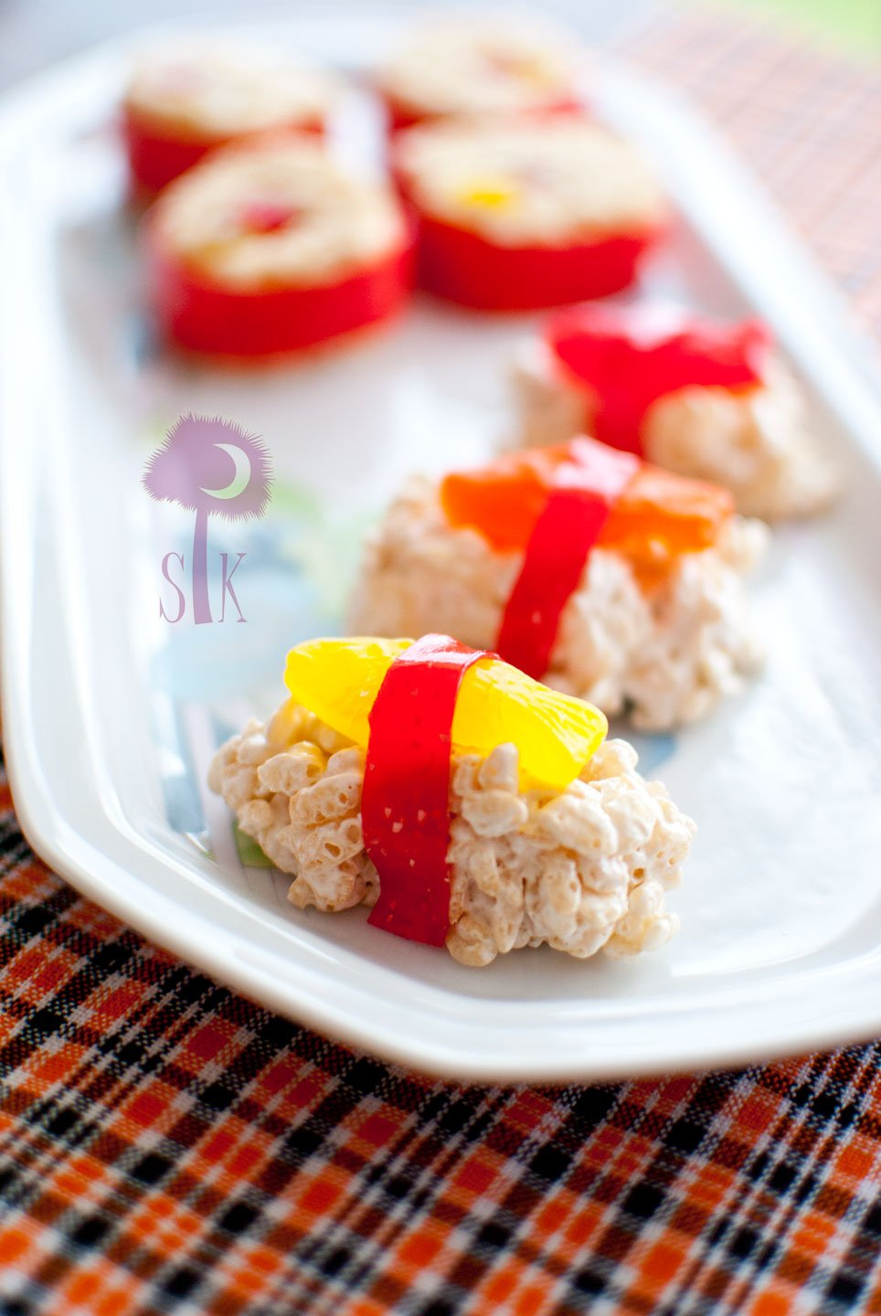 Sassy candy sushi for Swedish fish ingredients