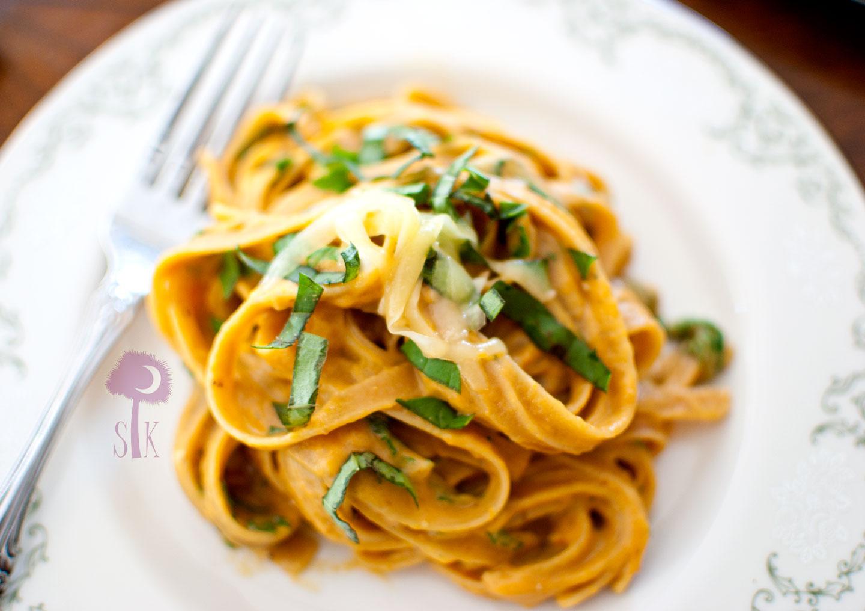 Pumpkin Parmesan Fettuccine Alfredo