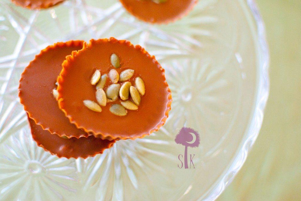 Pumpkin Stuffed Cinnamon Candy Cups