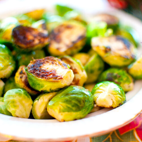 Super Simple Caramelized Brussels Sprouts