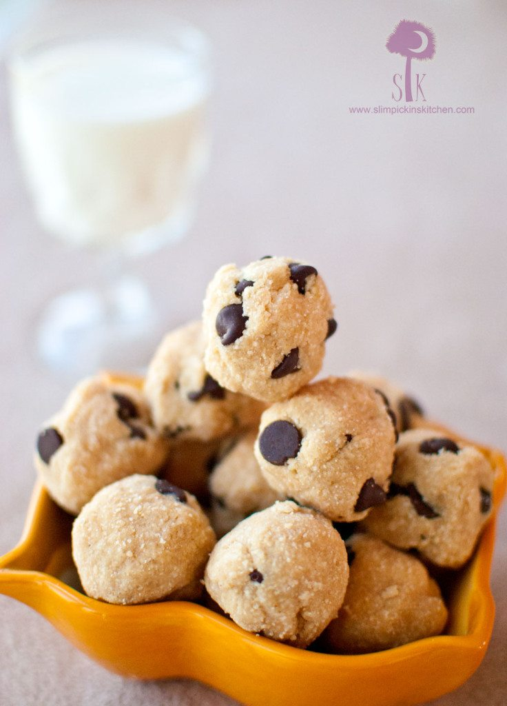 Grain Free No Bake Chocolate Peanut Butter Coconut Cookie Dough Balls