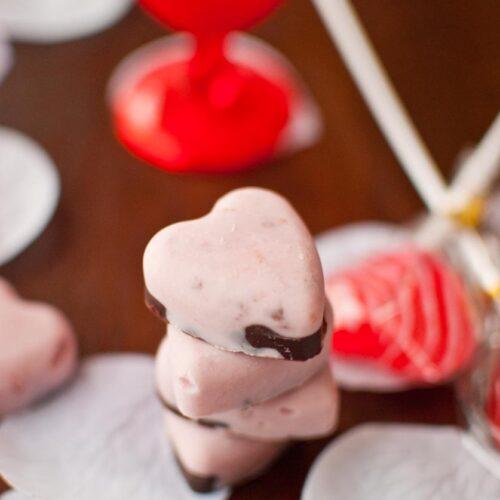 Chocolate Cherry Frozen Yogurt Bon Bons