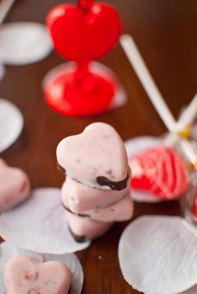Chocolate Covered Cherry Frozen Yogurt Bon Bons 3
