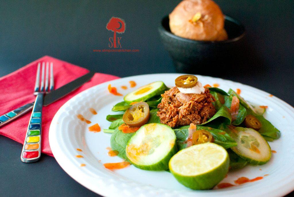 Spicy-Crock-Pot-Chicken-Mole-Taco-Salad-1