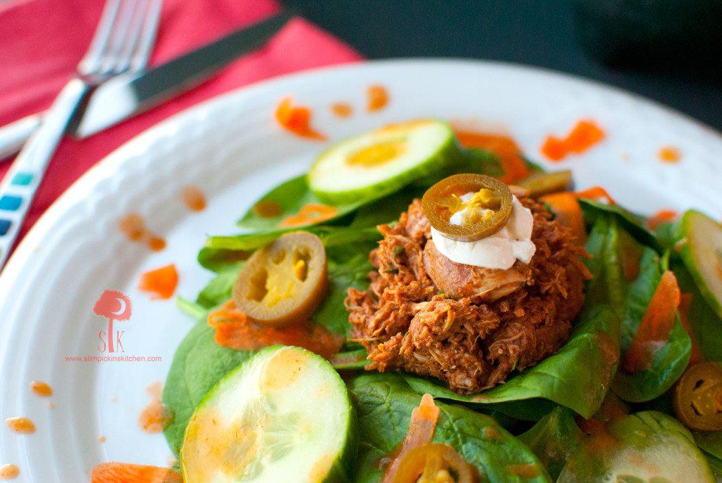 Spicy-Crock-Pot-Chicken-Mole-Taco-Salad-2