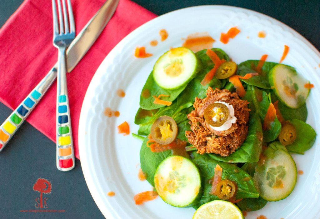 Spicy-Crock-Pot-Chicken-Mole-Taco-Salad-3