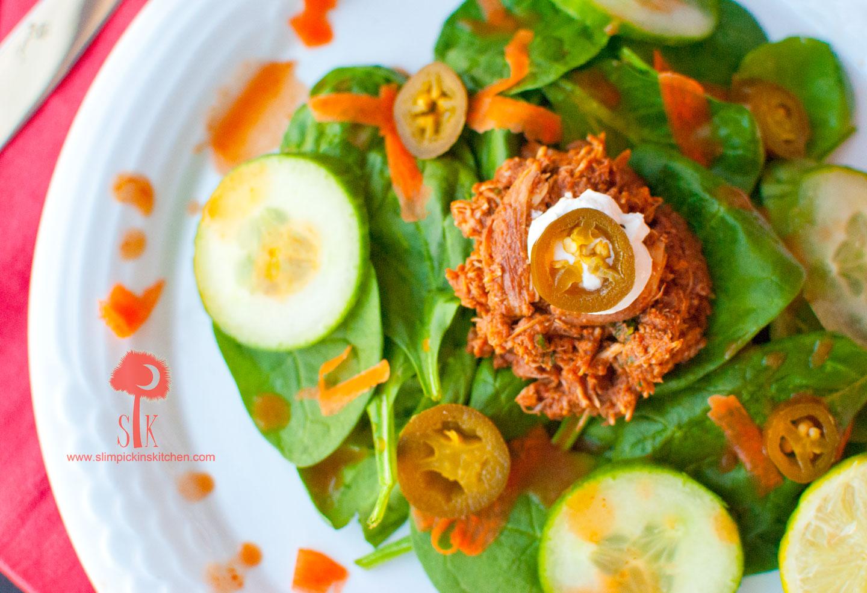 Spicy-Crock-Pot-Chicken-Mole-Taco-Salad-4