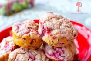 Valentine's Day Strawberry Love Muffins