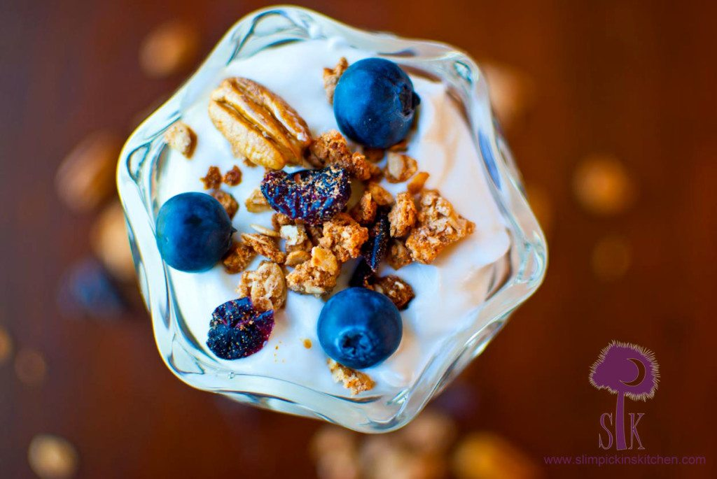 Healthy Blueberry Pie Granola