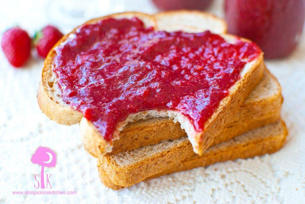 Crock Pot Strawberry Rhubarb Chia Seed Jam