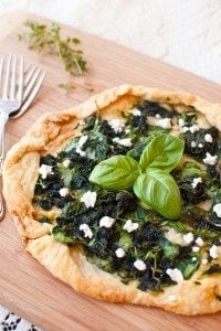 Spinach & Goat Cheese Galette