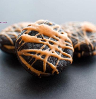 Flourless Chocolate Fudge Butterscotch Sandwich Cookies