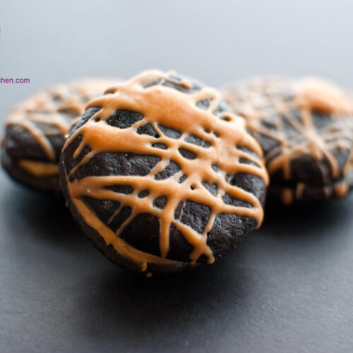 Flourless Chocolate Fudge Butterscotch Sandwich Cookies