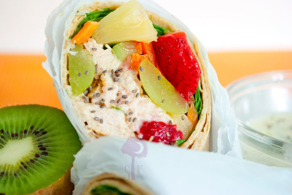 Tropical-Chicken-Wraps-w.-Honey-Lime-Dipping-Sauce-3