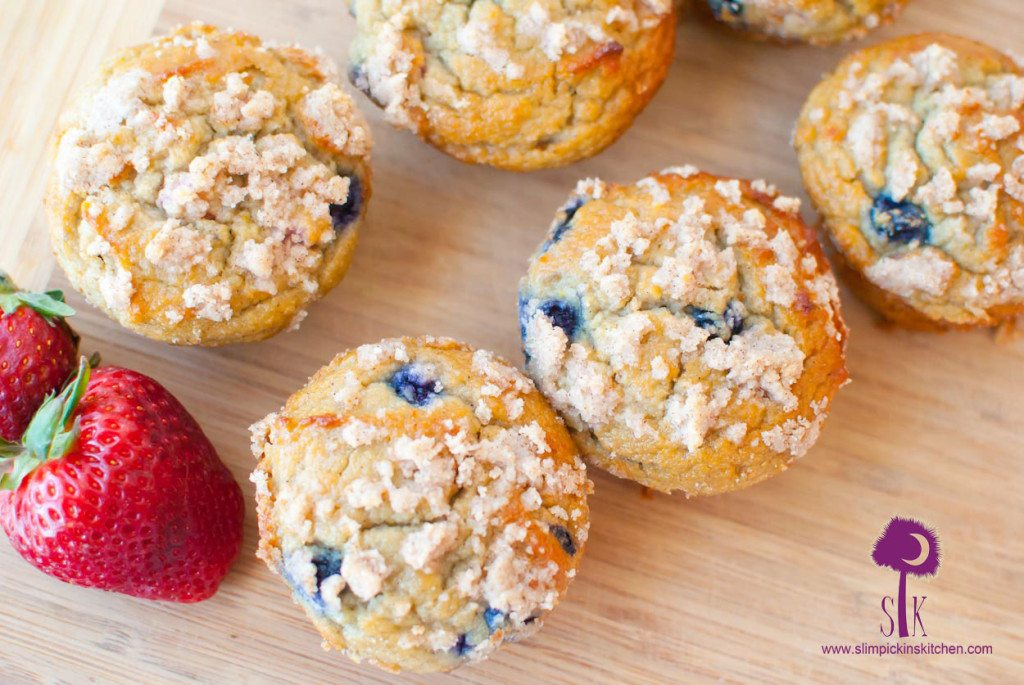 Grain Free Double Berry Crumb Muffins | Almond Flour Muffins