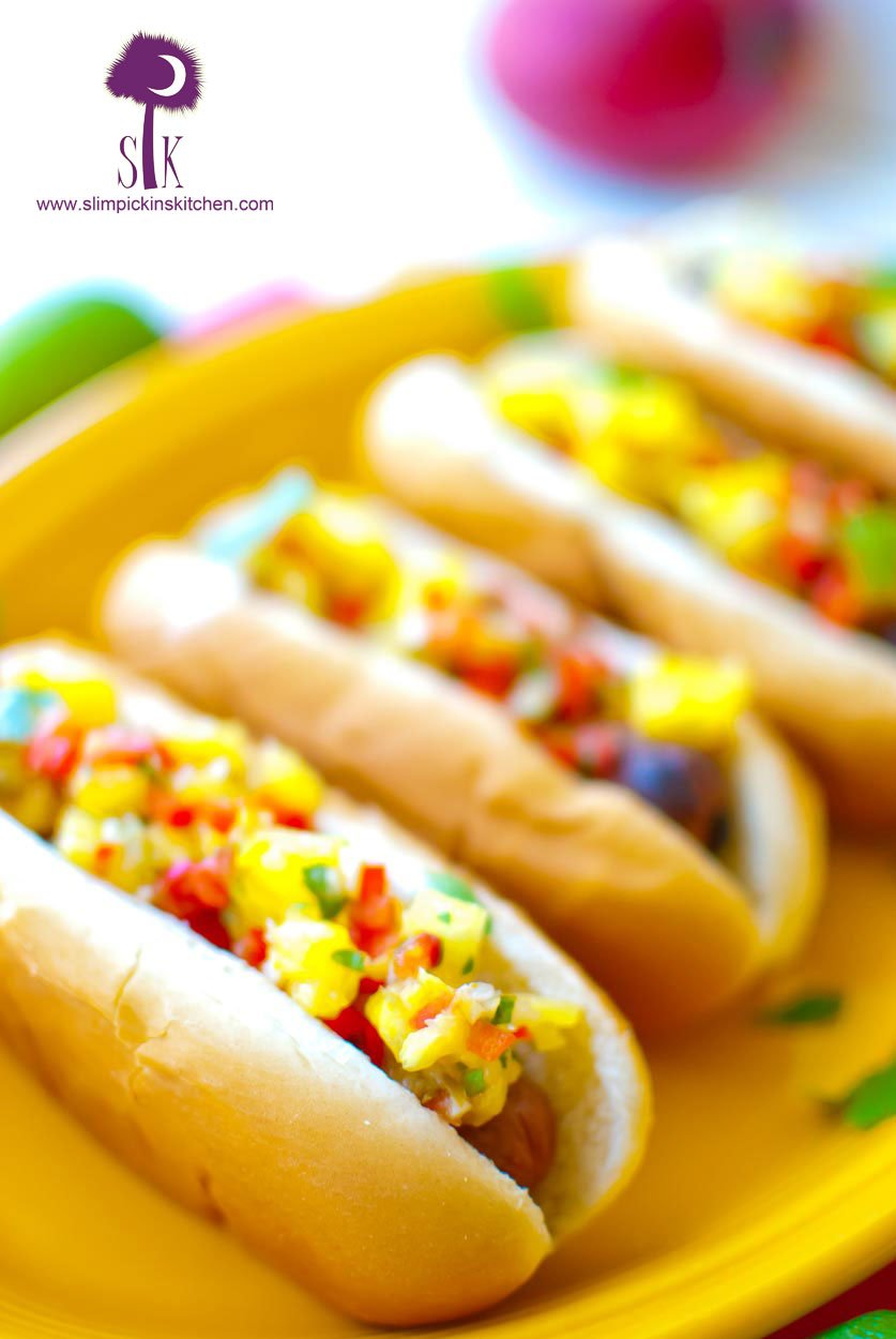 Tropical-Chicken-Sausage-Dogs-with-Mango-Mustard-and-Fresh-Pineapple-Relish-038-2