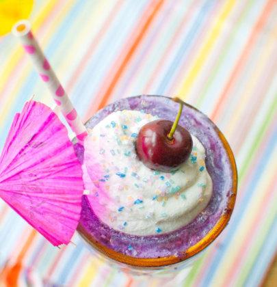 Blueberry Miami Vice Cocktail