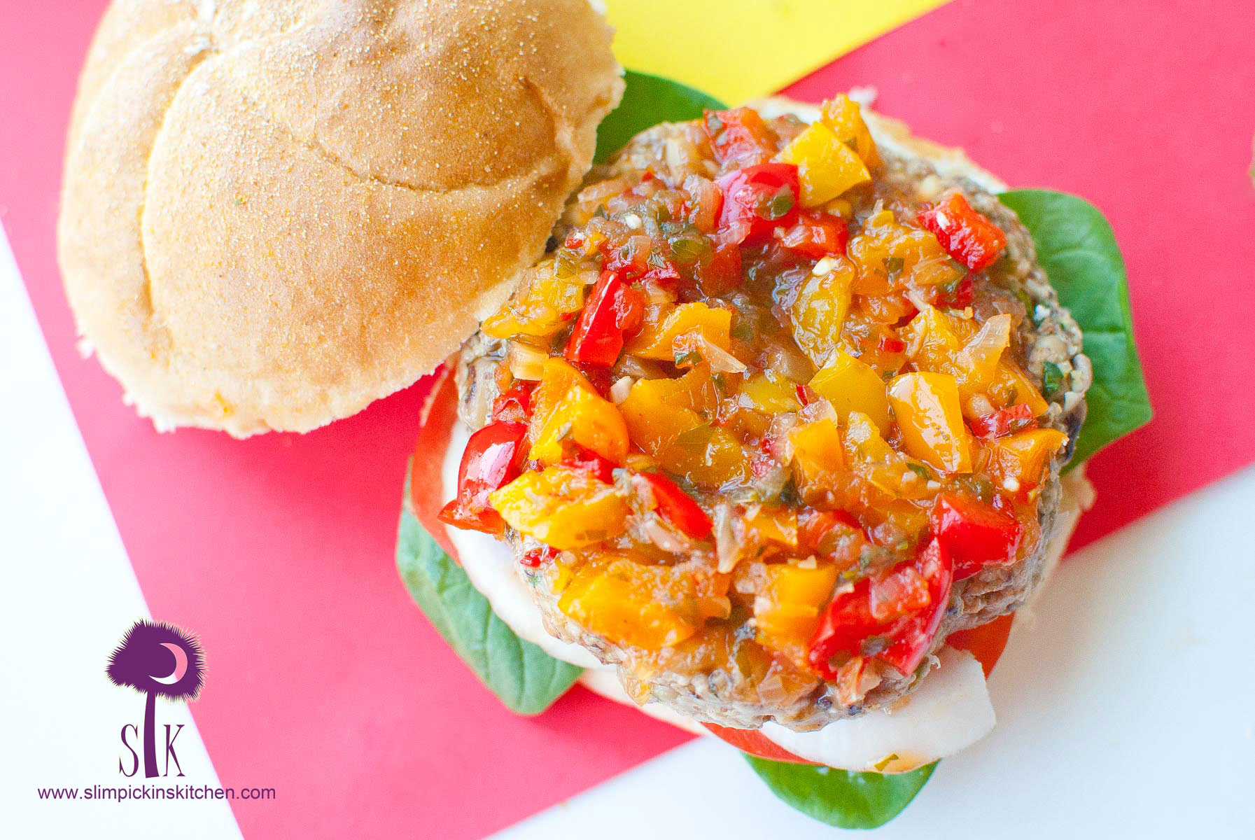 Gluten-Free-Black-Eyed-Pea-Burgers-with-a-Sweet-Chili-Pepper-Chutney-3