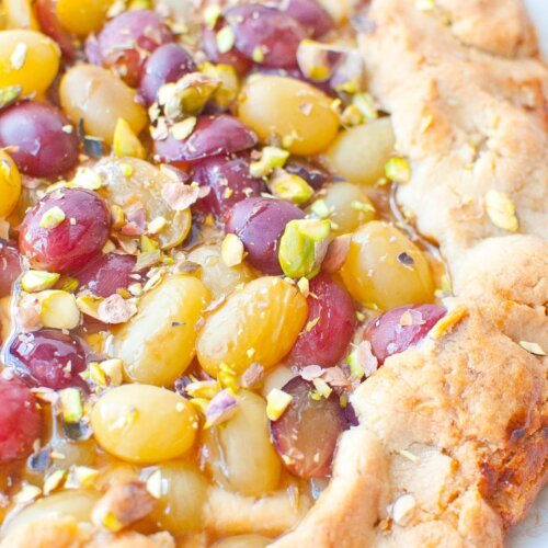 Drunken Grape & Goat Cheese Galette