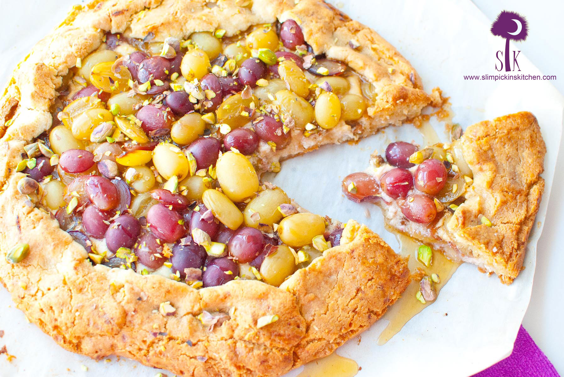 Drunken Grape and Goat Cheese Galette