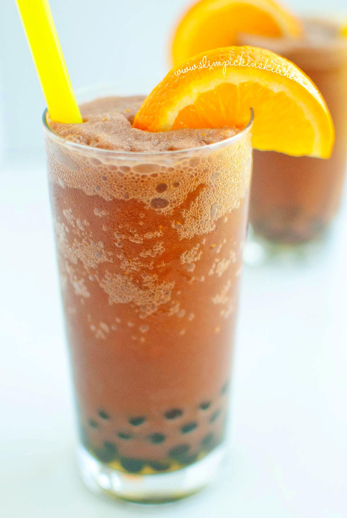 Frozen Chocolate Orange Bubble Tea ⋆