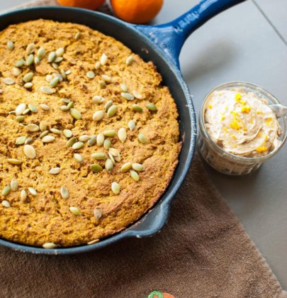 Pumpkin Cornbread with Whipped Gingerbread Butter