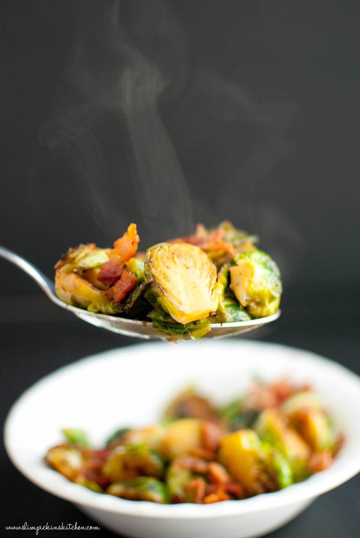 Apple Cider Glazed Brussels Sprouts ⋆ Slim Pickin's Kitchen