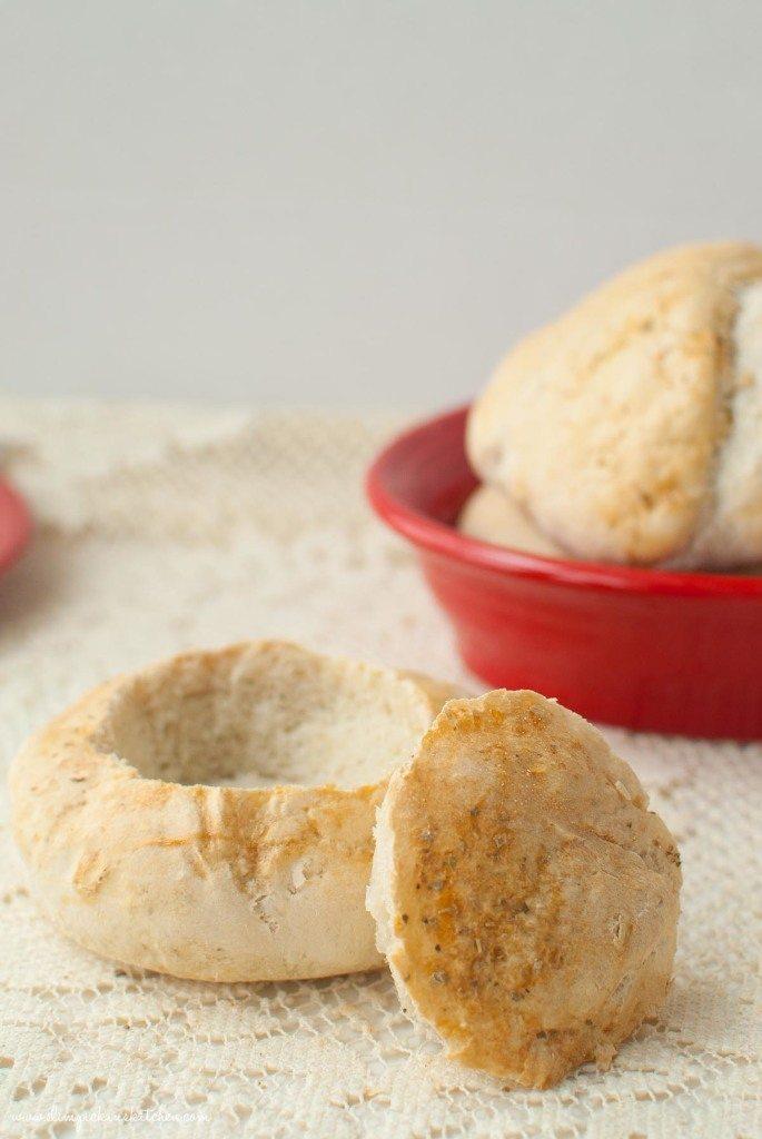 Homemade Italian Herb Bread Bowls