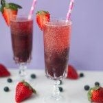 Blueberry Moscato Sparklers * Slim Pickin's Kitchen