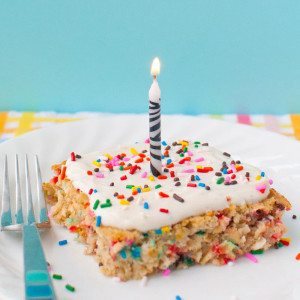 Funfetti Birthday Cake Breakfast Bake * Slim Pickin's Kitchen