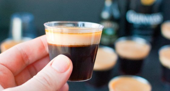 Baby Guinness Jello Shots