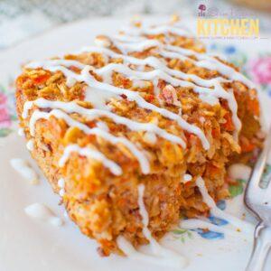 Carrot Cake Oatmeal Bake * www.slimpickinskitchen.com