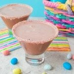 Robin Eggs Chocolate Malt Martini : The classic flavors of the chocolate malt Easter Candy, Robin Eggs, are blended together to make this delicious chocolate malt martini * www.slimpickinskitchen.com