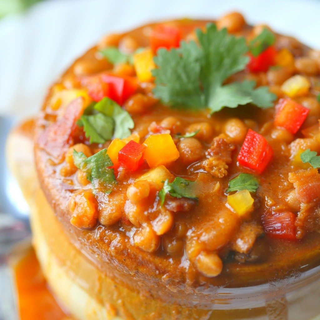 Homemade Amaretto and Maple Bacon Baked Beans…in the Crock Pot!