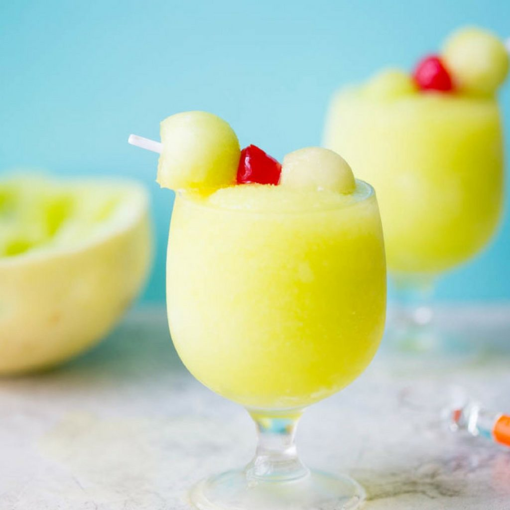 Spiked Melon Ball Slushies