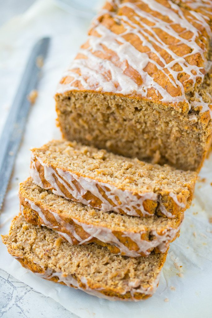 Chia and Chai Breakfast Bread: A seductively spiced, no-knead, easy to make bread recipe that's the perfect quick breakfast on a crisp fall morning!