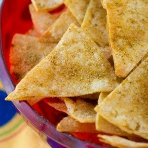 Healthy Homemade Cool Ranch Corn Chips are a healthy snack recipe that's reminiscent of the ever popular Cool Ranch Doritos, but you don't have to feel guilty about serving them to your kids!