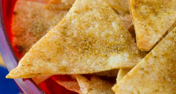Homemade Cool Ranch Corn Chips | Homemade Corn Chips