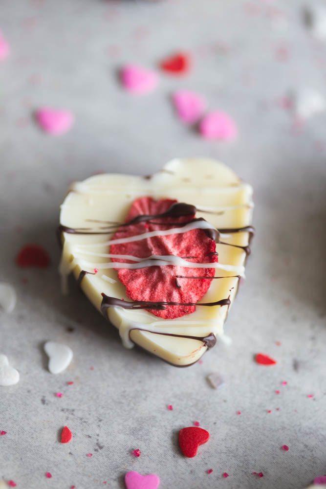 Chocolate Strawberry Valentine's Heart Sweetheart Bark