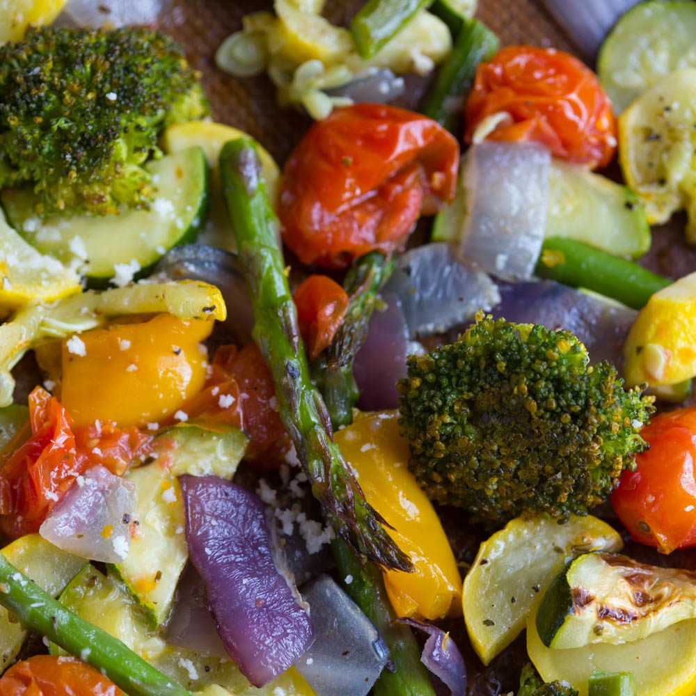 Lemon Parmesan Roasted Vegetables