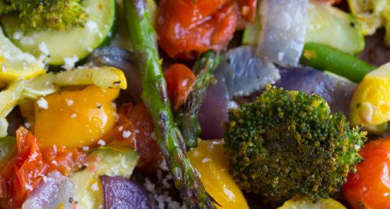 Lemon Parmesan Roasted Vegetables