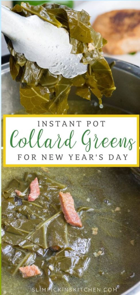 Instant Pot Collards Pinterest Image
